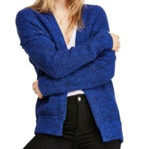 Free People Royal Blue Gorgeous Cardigan